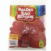 Balão Vermelho Quente  N11 50 unid São Roque