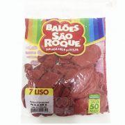 Balão Vermelho Rubi N07 50 unid São Roque