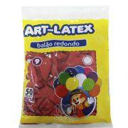 Balão Vermelho Rubi N09 50 unid Art Latex