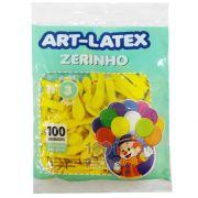 Balão Zerinho Amarelo N03 100 unid Art Latex