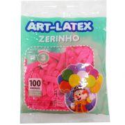 Balão Zerinho Rosa Pink  N03 100 unid Art Latex