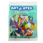 Balão Zerinho Sortido N03 100 unid Art Latex