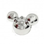 Baleiro Mouse Metal Prata C 03 unid