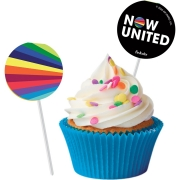 Bandeirinha para Docinhos Now United c/8 unid Festcolor