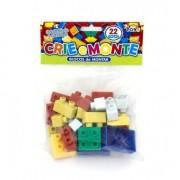 Blocos de Montar Crie e Monte C 22 Peças Mini Toys