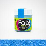 Brilho Para Decoração Azul 3g Fab