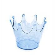 Cachepot Coroa Azul Translúcido