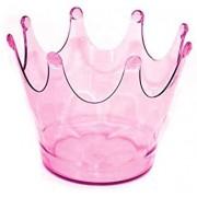 Cachepot Coroa Rosa Translúcido