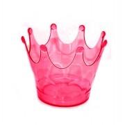 Cachepot coroa Vermelho Translúcido