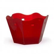Cachepot Pequeno Sextavado Vermelho Glitter