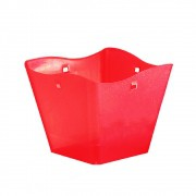 Cachepot Quadrado Pequeno Vermelho Glitter