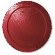 Cake Board Laminado Redondo Vermelho 38cm Ultrafest