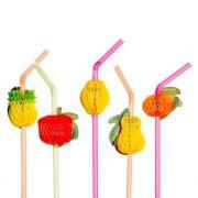 Canudo Frutas Sortido 12 unid