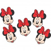 Carinha de E.V.A Minnie Vermelha C 05 unid Piffer
