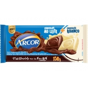 Chocolate Ao Leite + Chocolate Branco 150g  Arcor