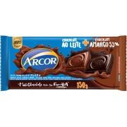 Chocolate Ao Leite + Chocolate Meio Amargo 150g  Arcor
