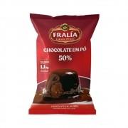 Chocolate em Pó 50% Cacau 1,1Kg Fralía