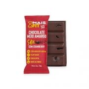 Chocolate Mais Fit Meio Amargo com Cranberry 23g