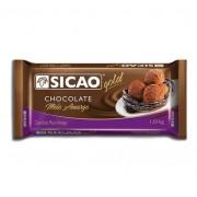 Chocolate Meio Amargo 1,01Kg Sicao Gold