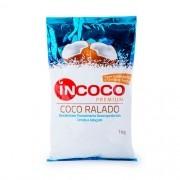 Coco Ralado Desidratado Úmido e Adoçado 1kg InCoco