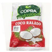 Coco Ralado Flocado Úmido e Adoçado Copra 1kg