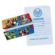 Convite Avengers C 08 unid  Regina
