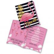 Convite Flamingo C 08 unid Festcolor