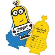 Convite Minions C 08 unid Festcolor