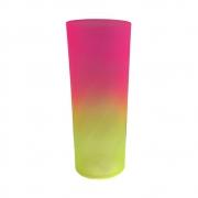Copo Long Drink Bicolor 350ml Rosa/Amarelo
