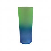 Copo Long Drink Bicolor 350ml Verde/Azul
