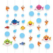 Cortina Decorativa Baby Shark  C 06 unid Cromus