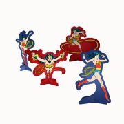 Decoração de Mesa Mulher Maravilha C 08 unid Festcolor