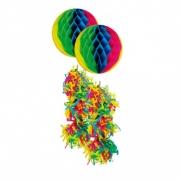 Enfeite Junino Bola Neon Colorida c/2 unid  FJE2-2R