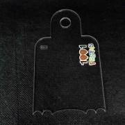 Espátula Decorativa Transparente 10x6  N06  1001 Festas