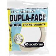 Fita Adesiva Dupla Face Transparente 12mm x 30m Adelbras