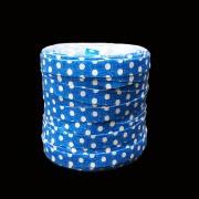 Fitilho Azul Poá Branco 5mm x 50m