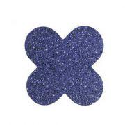 Forminha 4 Pétalas Glitter Azul c/50 NC Toys
