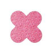 Forminha 4 Pétalas Glitter Pink c/50 NC Toys
