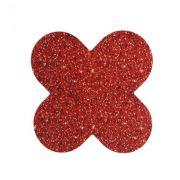 Forminha 4 Pétalas Glitter Vermelho c/50 NC Toys