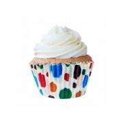 Forminha  Para Cupcake Circo c/45 unid Flip