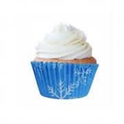 Forminha para Cupcake Flocos de Neve  c/45 unid. Flip