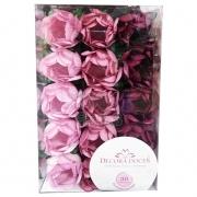Forminha Princesa c/30 unid Tons Rosas Decora Doces