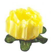 Forminha Rosa Maior Amarelo Claro c/30 Decora Doces