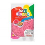 Granulado Crocante Rosa 500g Mil Cores