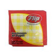 Guardanapo 20cm x 21cm 50 unid Amarelo Xadrez Flip