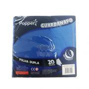 Guardanapo FD 25cm x 25cm 20 unid Azul Esc. Popper