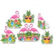 Kit Enfeite Impresso Flamingo C 06 unid Piffer