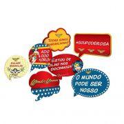 Kit Placas Mulher Maravilha C 09 unid Festcolor