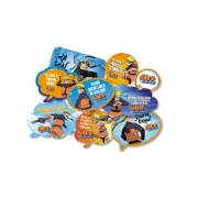 Kit Placas Naruto c/9  unid Festcolor