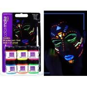 Kit Tinta Facial Flúor C 06 Cores Colormake